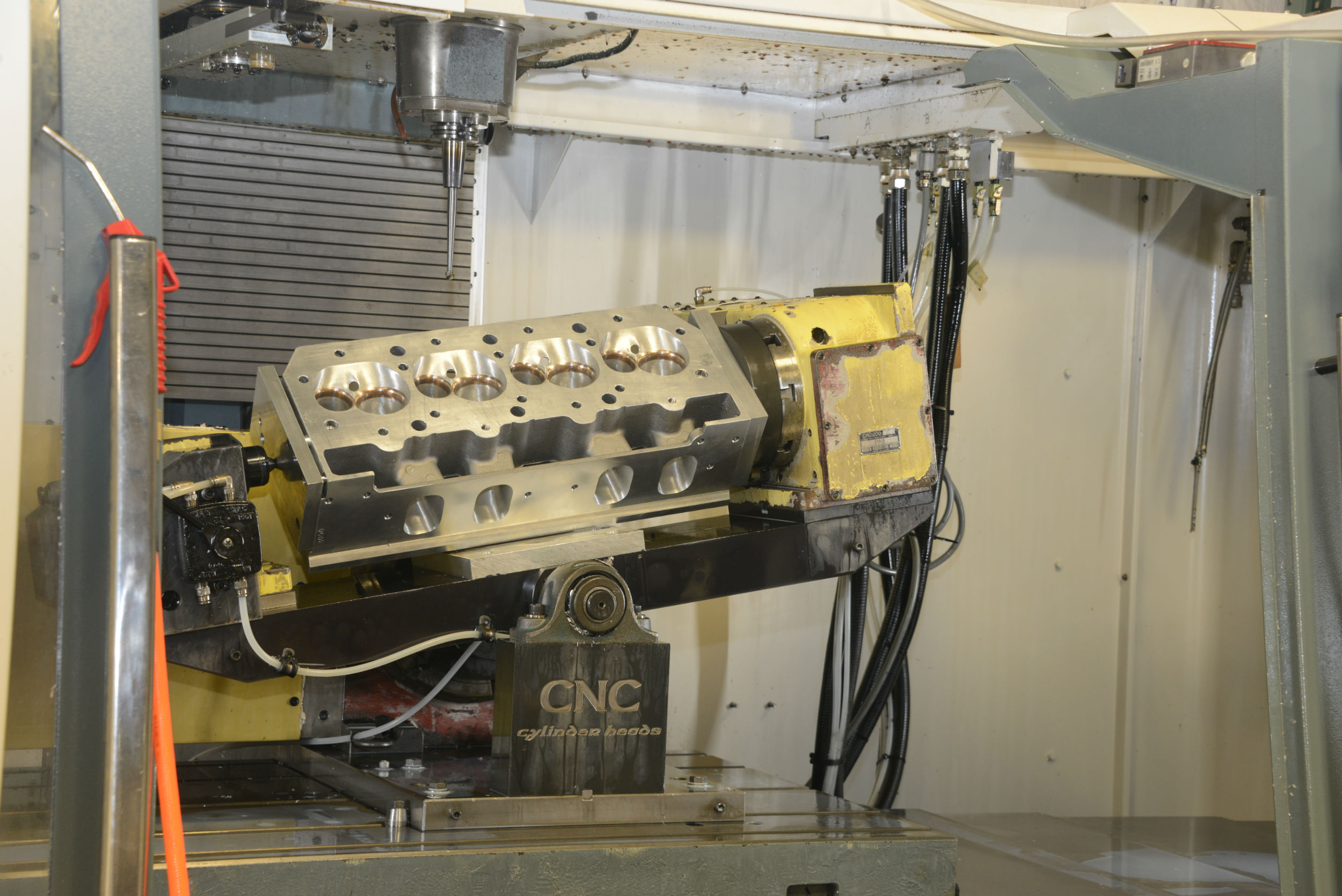 Cylinder head development and full 5 axis CNC machining